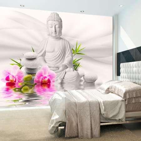 Fototapeta  Budda i orchidee