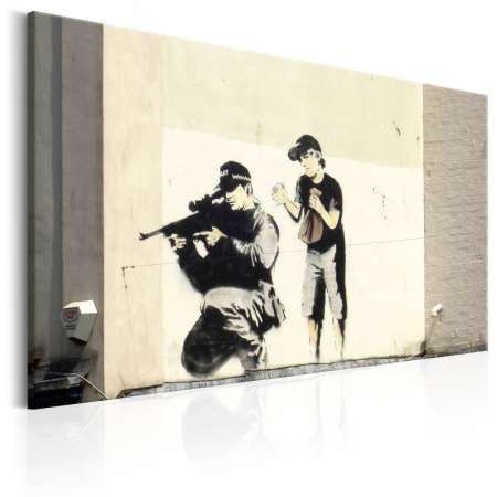 Obraz  Sniper and Child by Banksy
