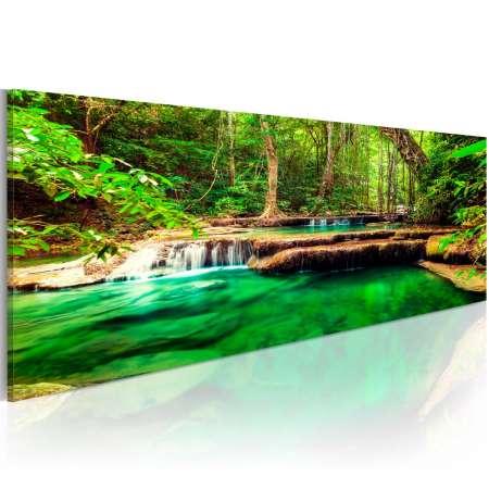 Obraz  Szmaragdowy Wodospad