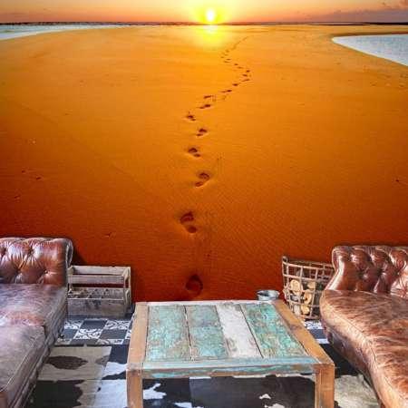 Fototapeta  Ślady stóp na piasku