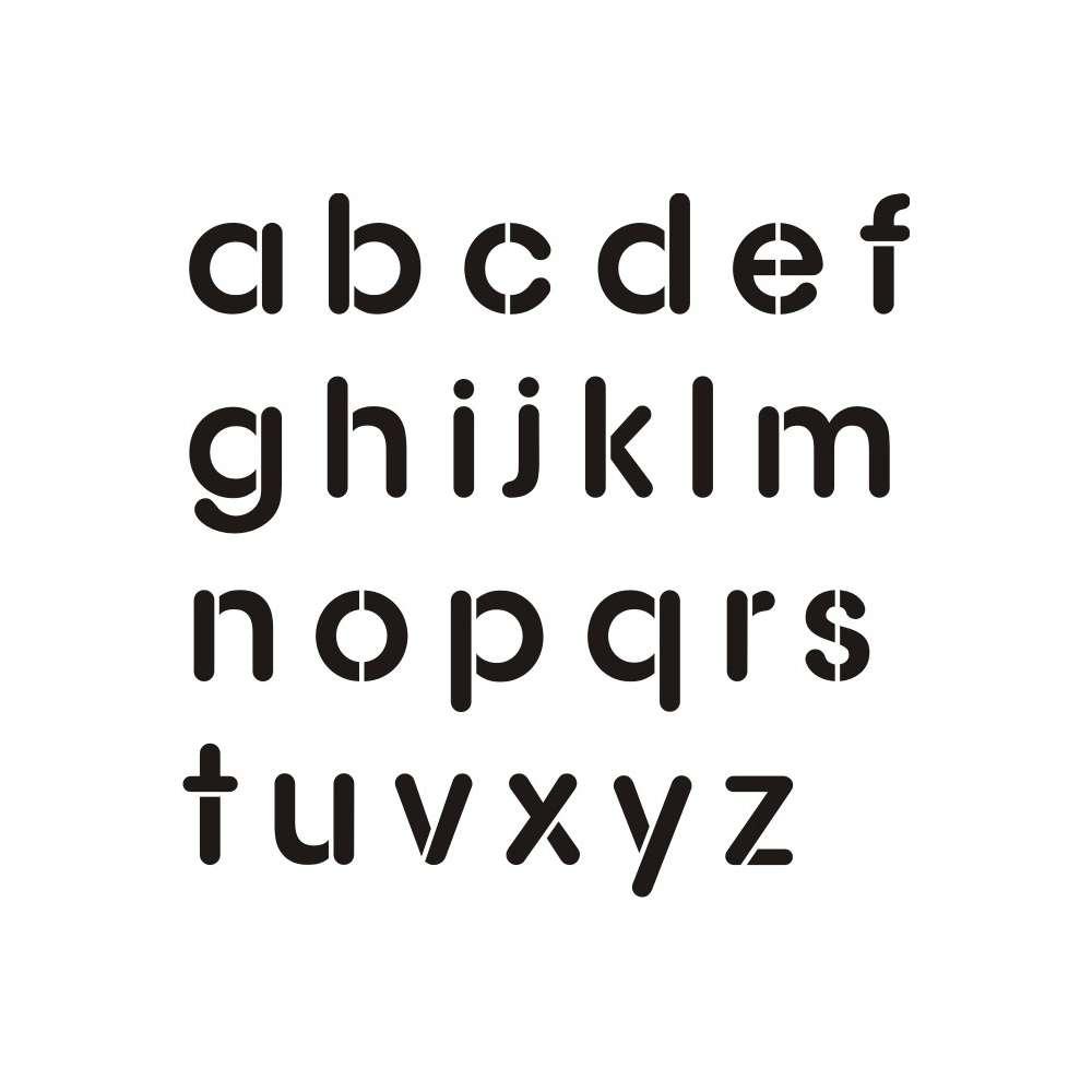 Szablon Malarski Alfabet Szablon Do Malowania Liter Male Litery