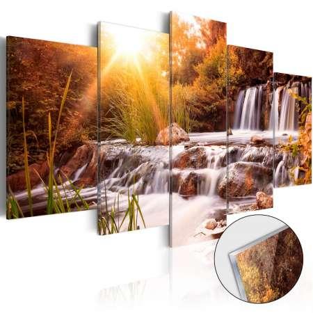 Obraz na szkle akrylowym  Dolina jesieni [Glass]