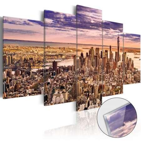 Obraz na szkle akrylowym  Bezsenność w Nowym Jorku [Glass]