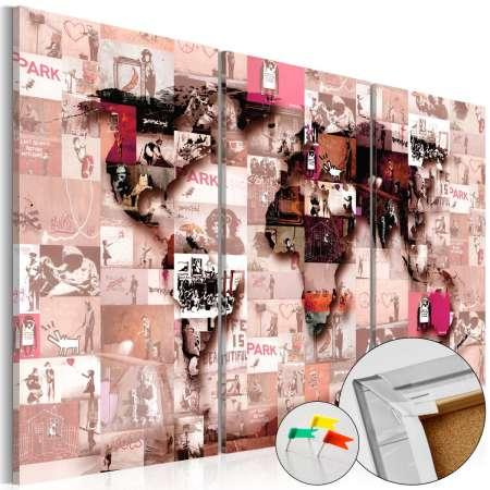 Obraz na korku  Banksy Graffiti Collage [Mapa korkowa]