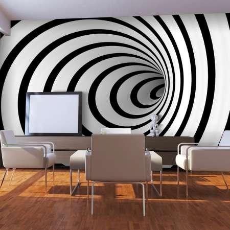 Fototapeta  Czarnobiały tunel 3D