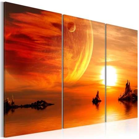 Obraz  Utopijny zachód słońca