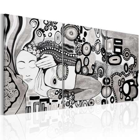 Obraz malowany  Srebrny pocałunek