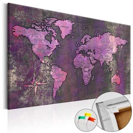 Obraz na korku  Ametystowa mapa [Mapa korkowa]