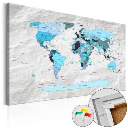 Obraz na korku  Błękitne pielgrzymki [Mapa korkowa]