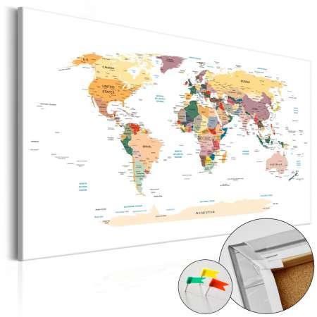 Obraz na korku  Mapa świata [Mapa korkowa]