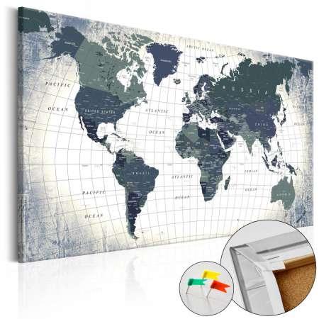 Obraz na korku  Struktura świata  [Mapa korkowa]