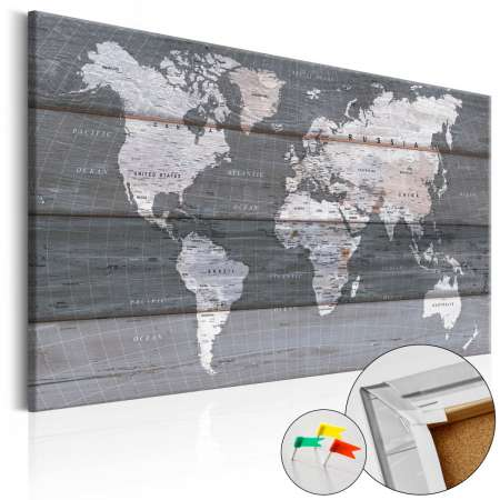 Obraz na korku  Szara Ziemia [Mapa korkowa]