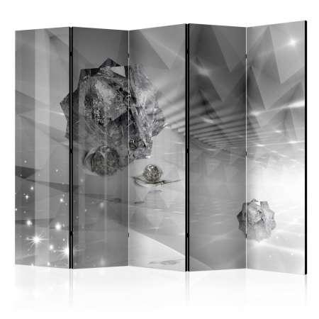 Parawan 5częściowy  Abstrakcyjna szarość II [Room Dividers]