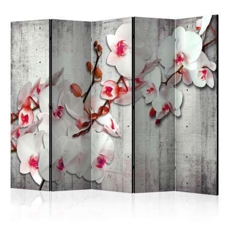 Parawan 5częściowy  Betonowa orchidea II [Room Dividers]