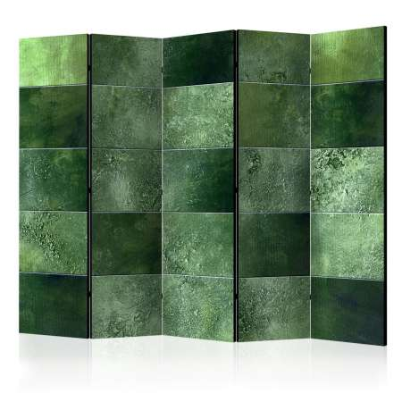 Parawan 5częściowy  Zielona układanka II [Room Dividers]