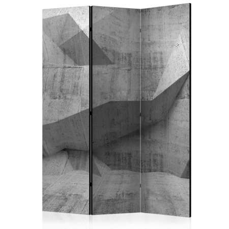 Parawan 3częściowy  Betonowa geometria [Room Dividers]
