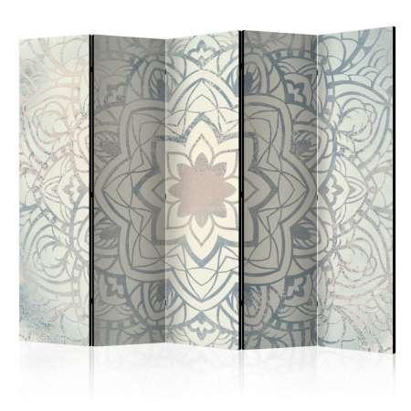 Parawan 5częściowy  Zimowa mandala II [Room Dividers]