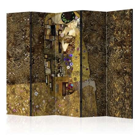 Parawan 5częściowy  Złoty pocałunek II [Room Dividers]