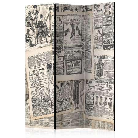Parawan 3częściowy  Vintage Newspapers [Room Dividers]