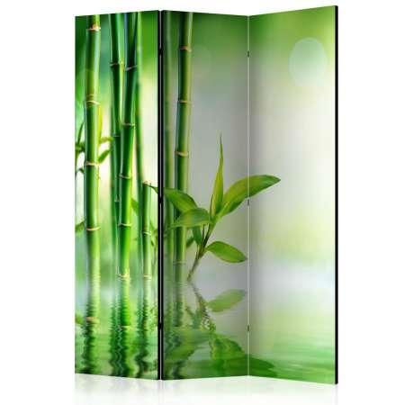 Parawan 3częściowy  Zielony bambus [Room Dividers]
