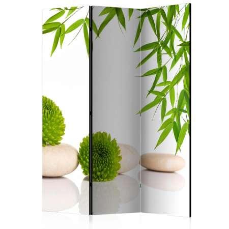 Parawan 3częściowy  Zielony relaks [Room Dividers]