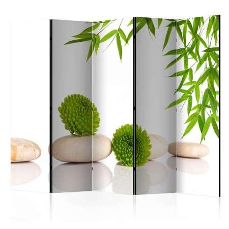 Parawan 5częściowy  Zielony relaks II [Room Dividers]