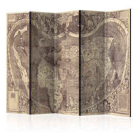Parawan 5częściowy  Parawan Mapa ( Amerigo Vespucci ! )