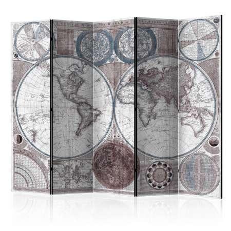 Parawan 5częściowy  Terraqueous Globe [Room Dividers]