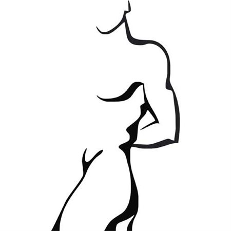 Szablon malarski B 13 erotyczny erotyka kobieta mężczyzna postać sypialnia, B13