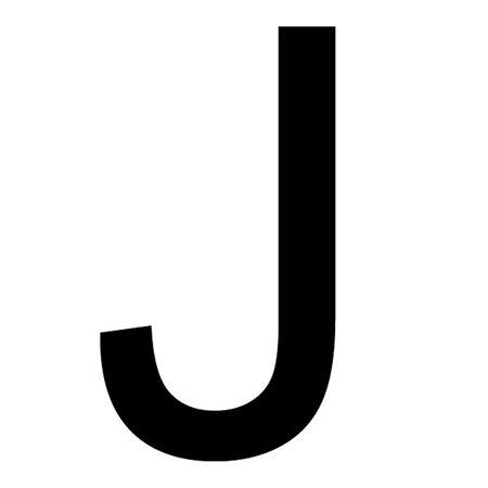 Szablon malarski litera J , czcionka Arial