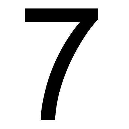 Szablon malarski cyfra 7 , czcionka Arial
