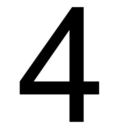 Szablon malarski cyfra 4 , czcionka Arial