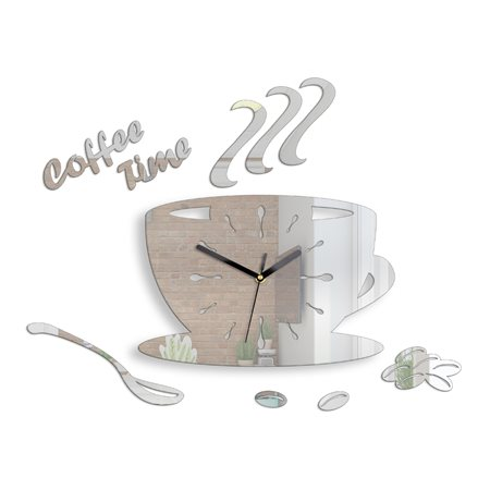 Zegar hodiny Coffe Mirror
