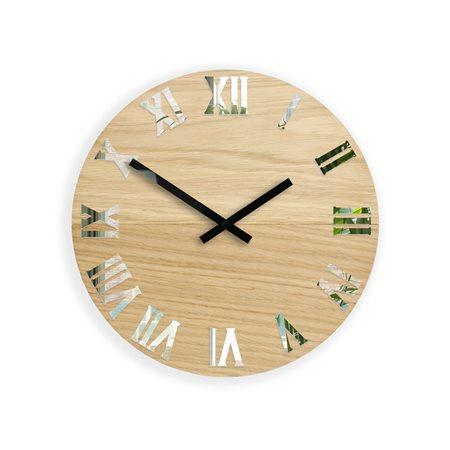 Zegar ścienny  Drewniany Rome Mirror