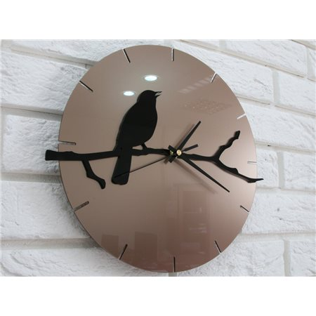 Zegar ścienny BIRD Tortora&Black