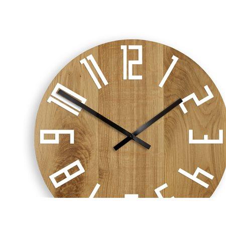 Zegar ścienny Drewniany Slim White&Black