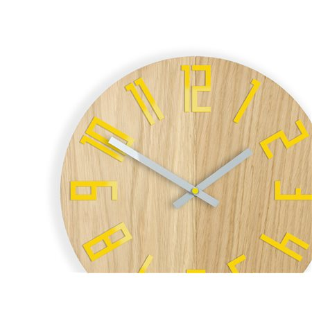 Zegar ścienny Drewniany Slim Yellow
