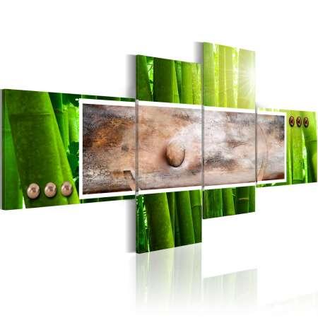 Obraz  Abstrakcja i bambus