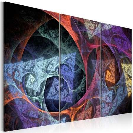 Obraz  Abstrakcja w tajemniczych barwach