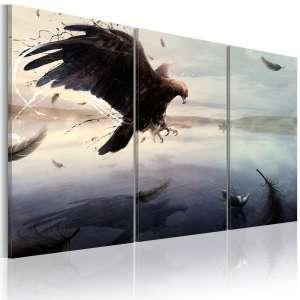 Obraz  Orzeł nad taflą jeziora