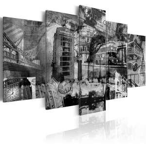 Obraz  Esencja Londynu  5 części