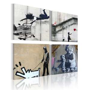 Obraz  Banksy  cztery twórcze pomysły