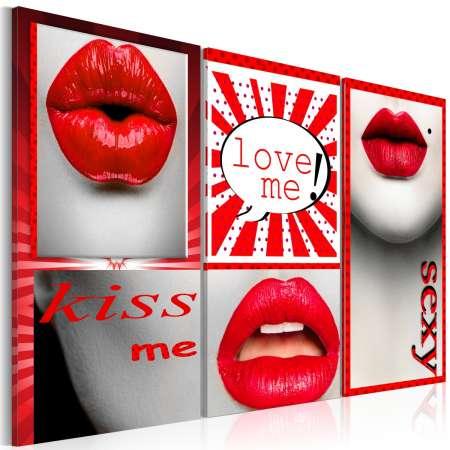 Obraz  Kiss me! Love me!