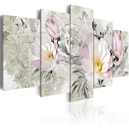 Obraz  magnolia  styl retro