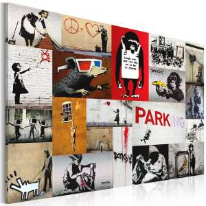 Obraz  Banksy  kolaż