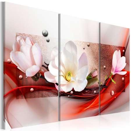 Obraz  Magnolia w czerwieni