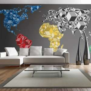 Fototapeta XXL  Map of the World  colorful solids