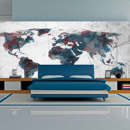 Fototapeta XXL  World map on the wall