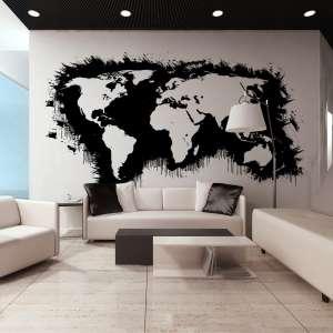 Fototapeta XXL  Białe kontynenty, czarne oceany...