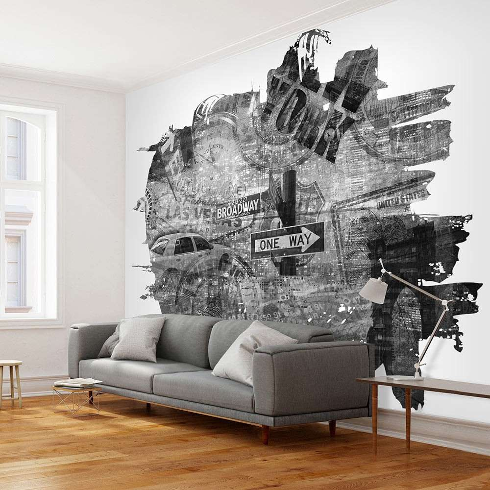 Fototapeta  Blackandwhite New York collage